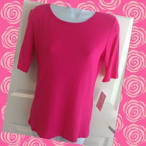 💗Lularoe Top NWT pink ribbed 🌸🌺